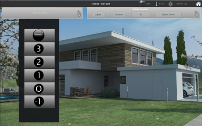 Smart Home Control Main Page